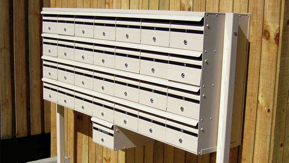 Freestanding banked Commercial mailboxes