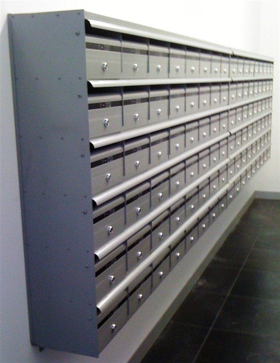 Wall mountable Commercial mailboxes